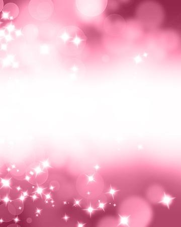 Roze glitters op een zachte onscherpe achtergrond met vloeiende hoogtepunten
