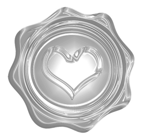 Metallic heart with some soft reflections and highlights Stock Photo - 18102357