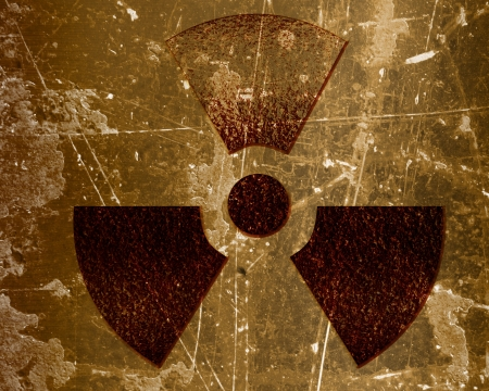 Nuclear sign representing the danger of radiation Stock Photo - 18102770