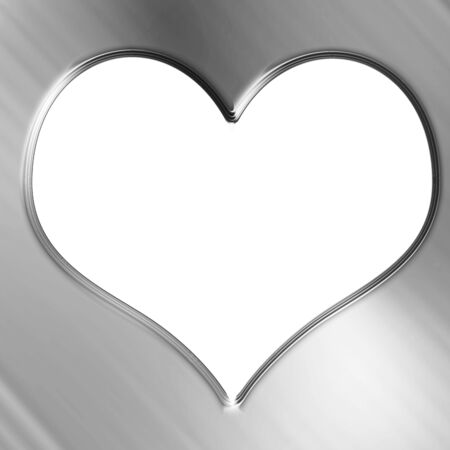 Metallic heart with some soft reflections and highlights Stock Photo - 21878089