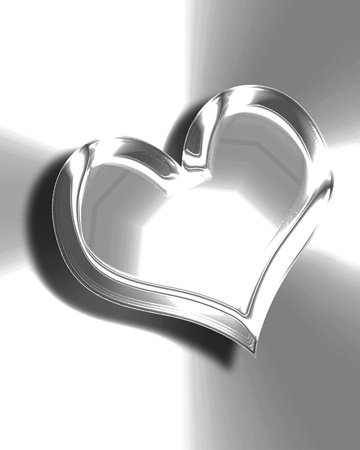 Metallic heart with some soft reflections and highlights Stock Photo - 21878101