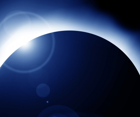 total: total solar eclipse on a dark background Stock Photo