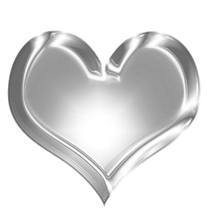 Metallic heart with some soft reflections and highlights Stock Photo - 21878376