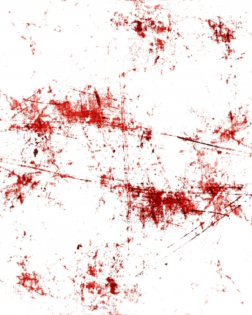 homicide: red blood splatter on a grunge like background Stock Photo