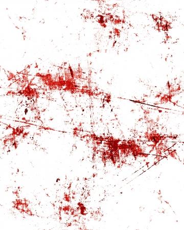red blood splatter on a grunge like background Standard-Bild
