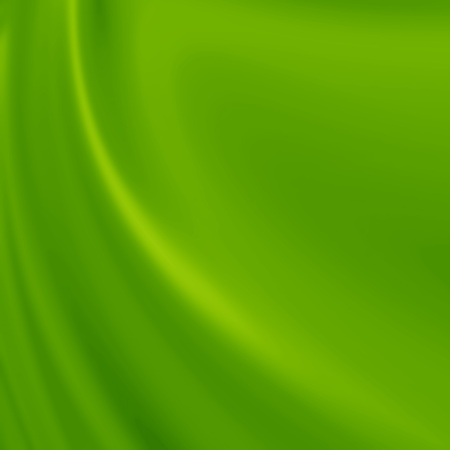 Green silk background with some soft folds and highlights Imagens