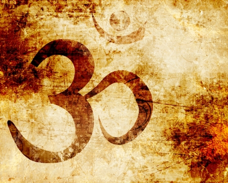 hindu god: Om symbol with some smooth lines and highlights Stock Photo