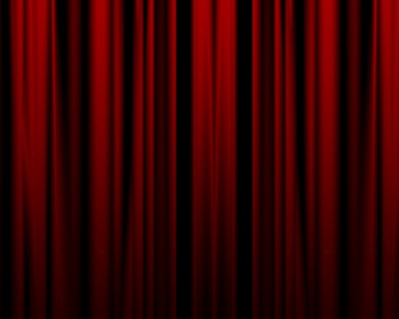 movie theater: red movie or theater curtain with some folds in it Stock Photo