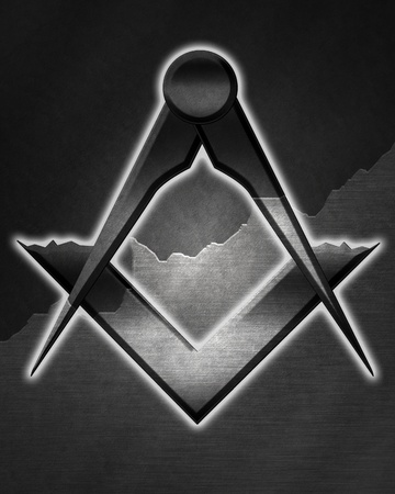 masonic: Masonic square and compass with some soft highlights