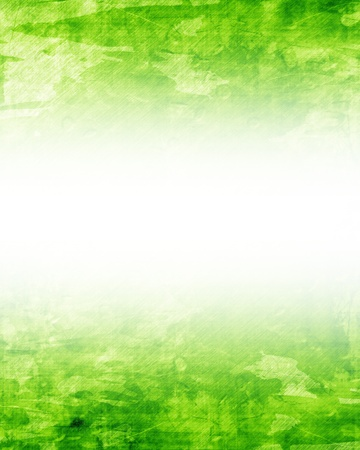 Green and fresh background with soft highlights and lines Stock Photo