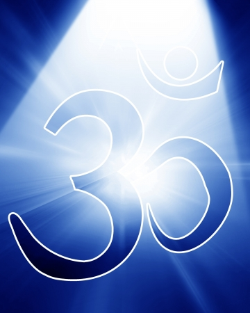 om aum symbol with a spotlight on it photo