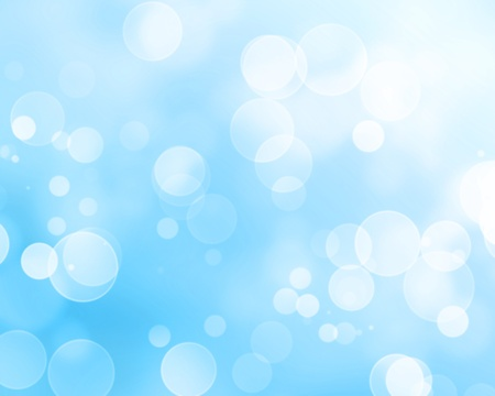 glowing stars on a soft blue background