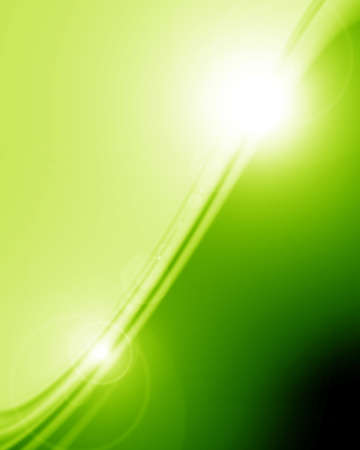 green and fresh background with some soft glow on it Stock Photo