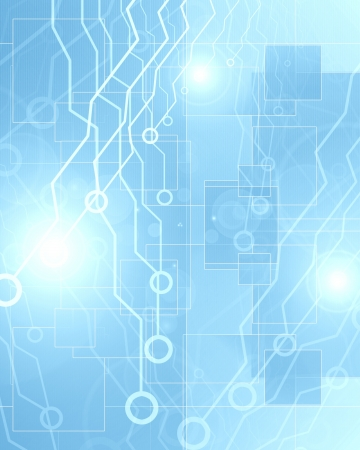 illustration of a circuit board on a soft background illustration