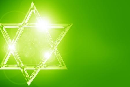 Star of David, representing the Jewish religious symbol photo