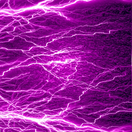 electrical sparks on a dark pink background photo