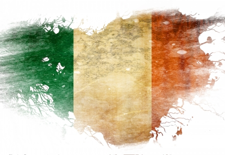 Irish flag  with some grunge effects and lines photo
