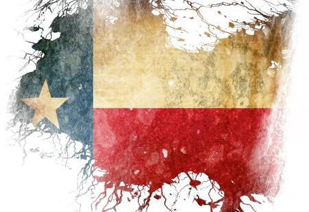 いくつかのグランジ効果とラインでテキサスの旗
