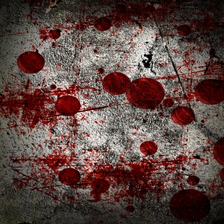 homicide: grunge background with some red blood splatter on it Stock Photo