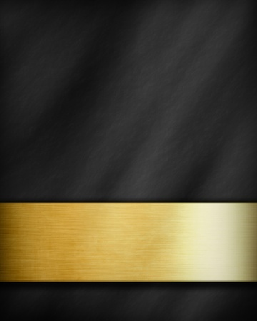 dark background with a golden panel with room for text photo
