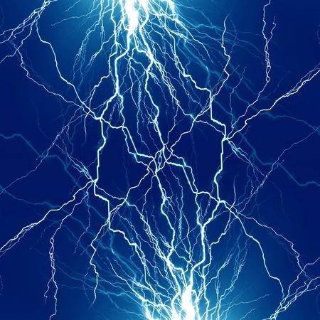 lightning strike: electrical sparks on a dark blue background
