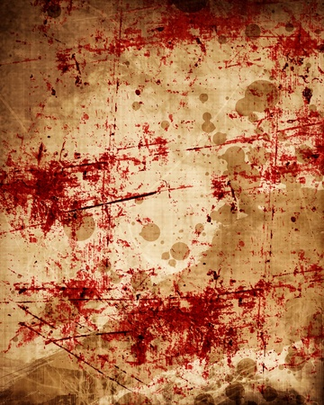 grunge background with some red blood splatter on it photo