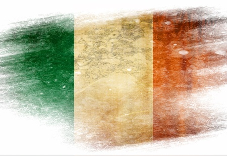 eire: Irish flag  with some grunge effects and lines