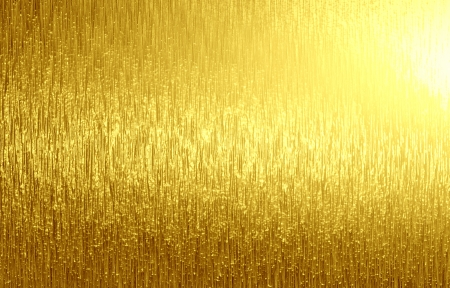 gold texture: golden panel with some fine grain in it Stock Photo