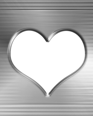 Metallic heart with some soft reflections and highlights Stock Photo - 22226371