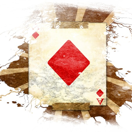 grunge playing card on a soft brown background Stock Photo - 22226391
