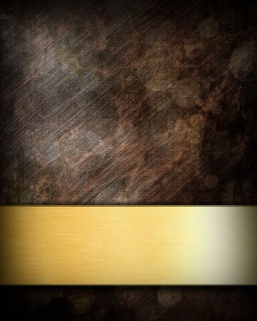 grunge background with a golden panel with room for text photo