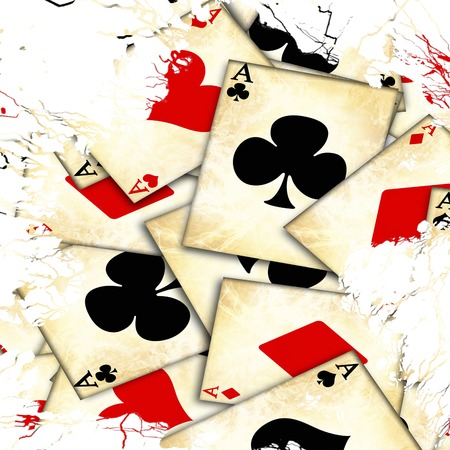 grunge playing card on a soft brown background Stock Photo - 22347537