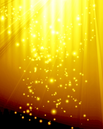 golden spotlight with some glitter and sparkles on it Stock Photo - 22347621