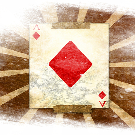 grunge playing card on a soft brown background Stock Photo - 22347790