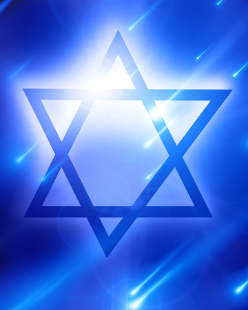 star of david on a blue background photo