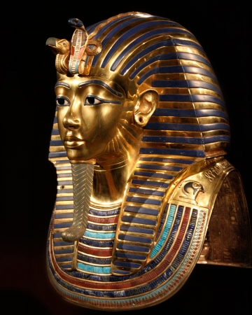 replica of the burial mask of tut ankh amon