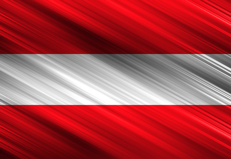 austrian: Austrian flag waving in the wind with some folds Stock Photo