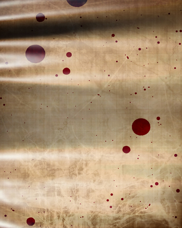 bloodied: Old paper texture with some stains and spots on it Stock Photo