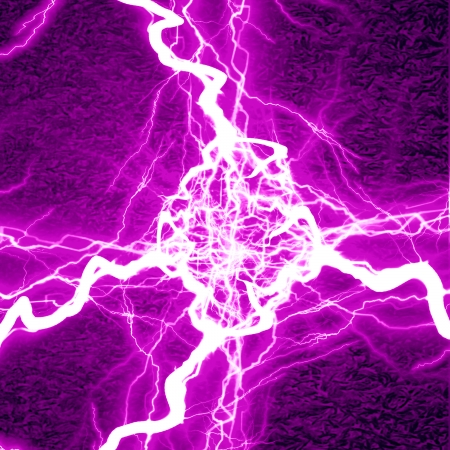 electrical sparks on a dark pink background