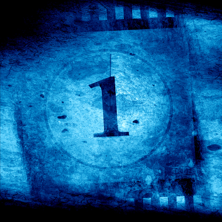 countdown to the movies on a blue background photo