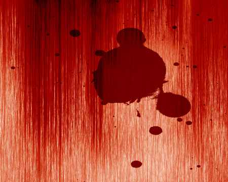 bloodied: red blood splatter on a grunge like background Stock Photo