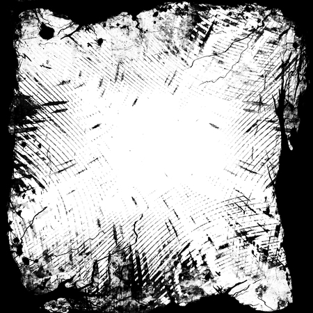 grunge black and white frame with some spots and stains on it