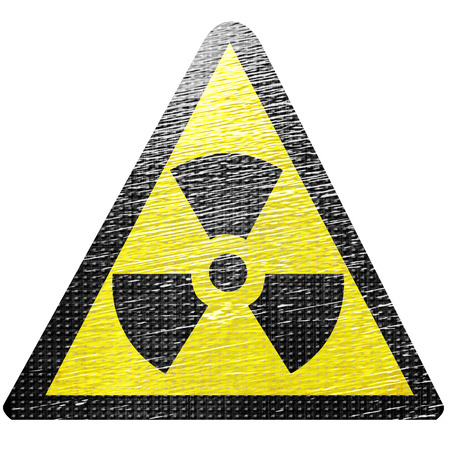 black and yellow nuclear sign isolated on a white background Stock Photo - 22619486