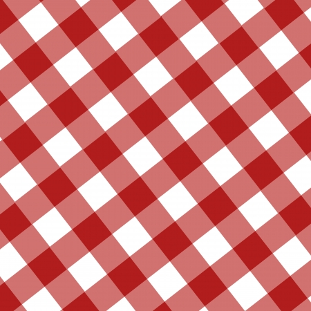red picnic cloth with some squares in it Stock Photo - 22619676