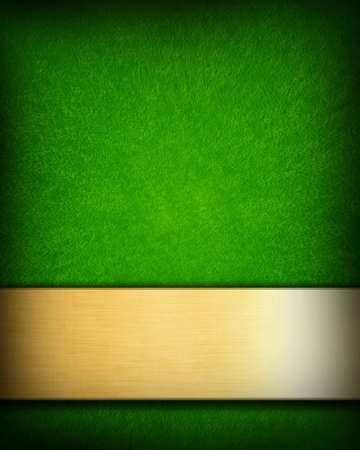 green background with a golden panel with room for text photo