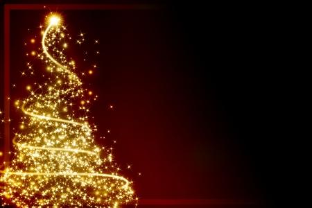 クリスマス ツリーといくつかの輝きクリスマス グリーティング カード