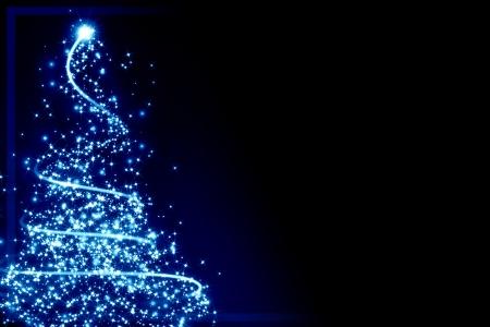 クリスマスのグリーティング カード クリスマス ツリーといくつかの輝き