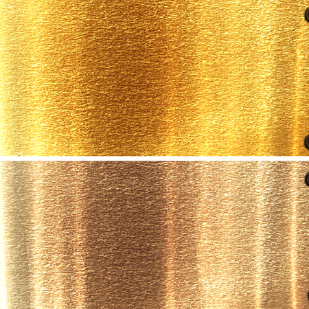wallpaper copper gold golden: metal panels in different materials with some fine grain in it