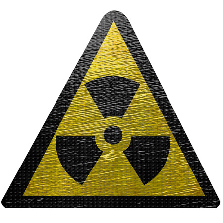 black and yellow nuclear sign isolated on a white background Stock Photo - 22999885