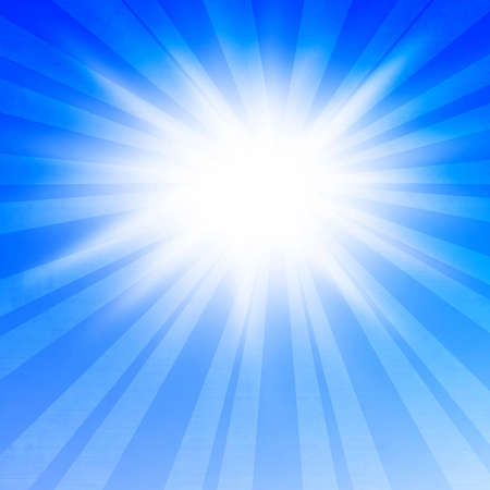 bright glowing summer sun on a soft background photo